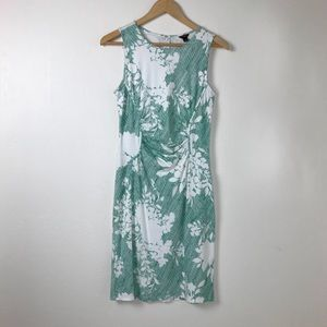 Ann Taylor Dresses - Ann Taylor Turquoise and White Spring Floral Dress